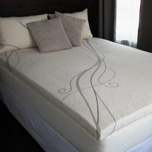 A Latex Topper for a Stearns and Foster Estate Kimberley Luxury Firm Mattress.