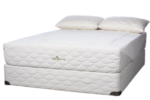 "Natura of Canada Greenspring Ultra Plush Mattress, with the EverEden 2"" Soft Latex Topper."
