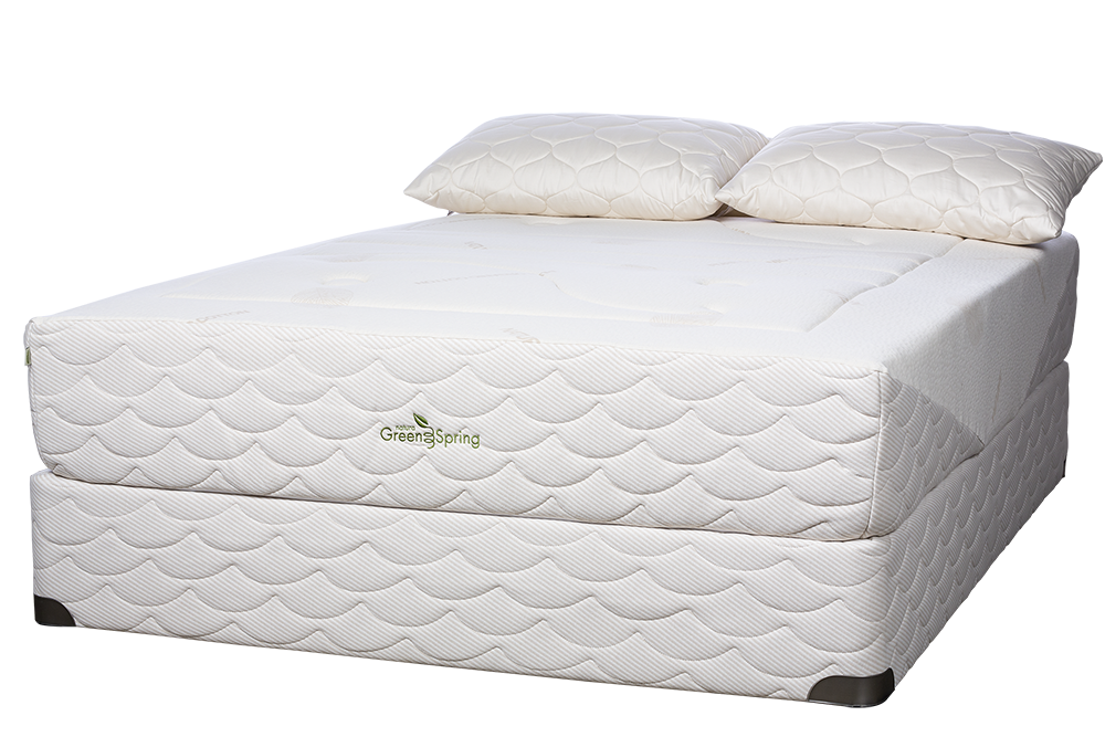 Natura of Canada Greenspring Mattress for large people with Disc Back Pain.