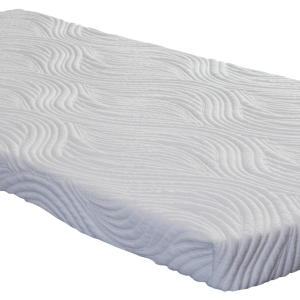 "A Pure Bliss 2"" Plush Latex Topper on a Luxury Firm Simmons Beautyrest Mattress."