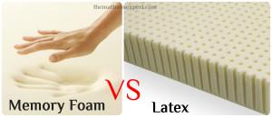 Compare latex and memory foam mattress